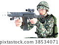士兵 军人 枪 38534071