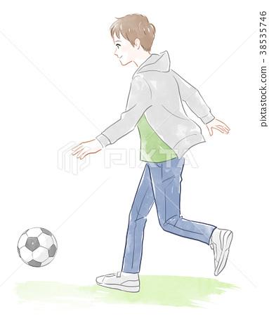 足球 男孩 男孩們 38535746