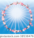 Illustration of cherry blossoms | Cherry wreath ornaments | Illustration of spring image, background, background 38536476