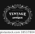 Vintage frame design antique label border vector 38537804