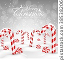 Christmas background with decorative baubles and c 38538206