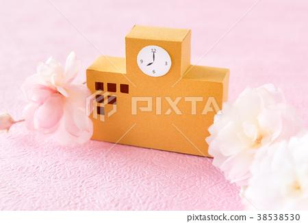 입학 봄 벚꽃 학교 진학 입사 졸업 졸업 정원 38538530