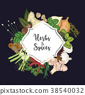 Card design background with spices and herbs 38540032