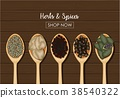 spices wooden spoon 38540322