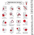 White Collar Job - Line Icons 38540970