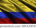 Columbia nation flag 3D illustration symbol. 38542859