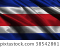 Costa Rica flag 3D illustration symbol. Costa flag 38542861