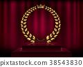 medal, wreath, laurel 38543830