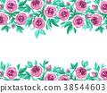 Watercolor garden roses 38544603