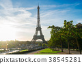 eiffel tour and from Trocadero, Paris 38545281