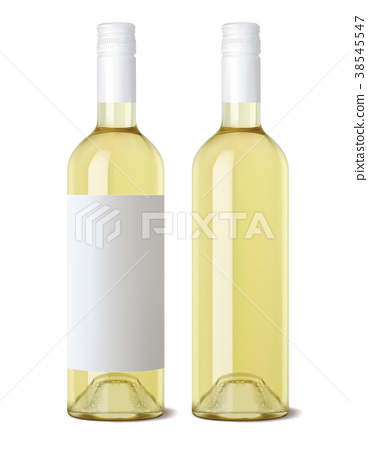 Wine bottle isolated. Realistic Vector  38545547