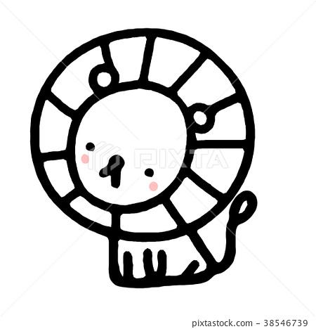 cartoon lion in hand drawn style. 38546739