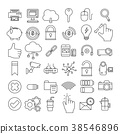 Set of Business Icon,office outline symbol 38546896
