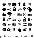 Set of Business Icon,office symbol 38546898