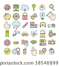 Set of Business Icon,office symbol 38546899