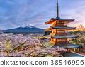 Mt. Fuji and Pagoda 38546996