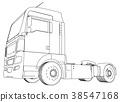 truck, cargo, white 38547168