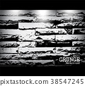 Grunge style brick wall texture and light . Vector 38547245