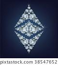 Ethereum Symbol made a lot of diamonds. 38547652