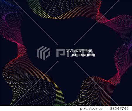 Elegant abstract spectrum rainbow gradient line 38547742