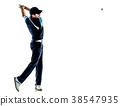 man golfer golfing isolated withe background 38547935