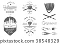 Set of Vector Logo and Badges Baseball 38548329