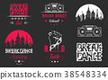 Vector Set of Badges, Logos and Sign Break Dance 38548334