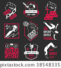 Vector Set of Badges, Logos and Sign Break Dance 38548335