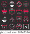 Vector Set of Badges, Logos and Sign Break Dance 38548336