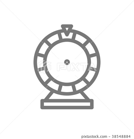 Simple wheel of fortune line icon. Symbol and sign 38548884