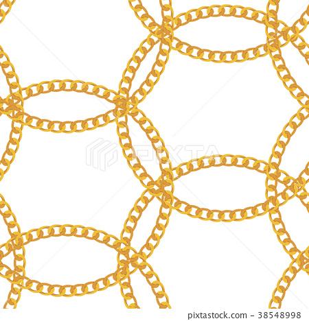 Gold Chain Jewelry Seamless Pattern Background 38548998