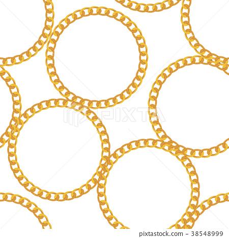 Gold Chain Jewelry Seamless Pattern Background 38548999