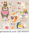 Animals celebrating Easter 38549049