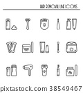 Hair removal methods line icons set. Shaving 38549467