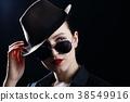 hat, woman, brunette 38549916