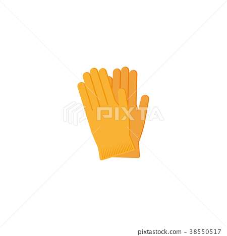 vector flat working rubber gloves icon 38550517