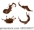 Vector illustration of hot chocolate, cacao or 38550657