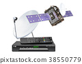 Digital satellite receiver with satellite and dish 38550779