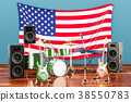 Music, rock bands from the United States concept 38550783