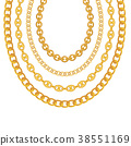 chain gold vector 38551169