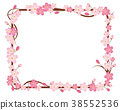 Illustration of cherry blossoms | Cherry wreath ornament square | Illustration of spring images, background, background 38552536