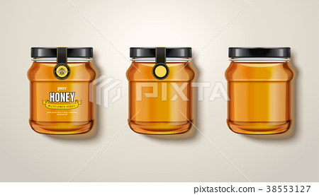 Pure honey jar mockup 38553127