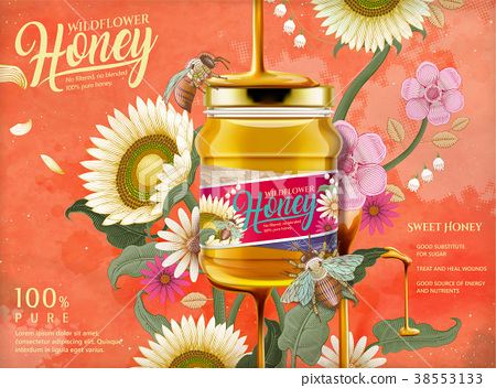 Attractive honey ads 38553133