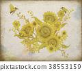 Retro elegant floral design 38553159