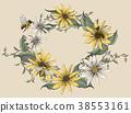Retro elegant floral design 38553161