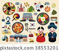 Lovely Korea travel concept set 38553201
