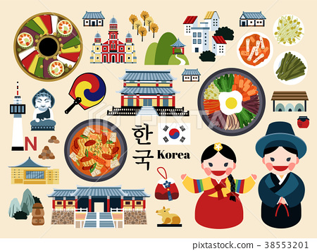 Lovely Korea travel concept set 38553201