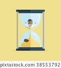 Businessman be trapped in hourglass. 38553792