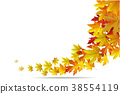Maple autumn falling leaves, vector illustration. 38554119