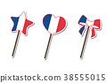 France flag pattern Lollipop candy collection 38555015
